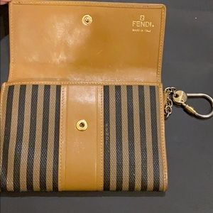 Fendi Accessories - Vintage Fendi Pequin wallet